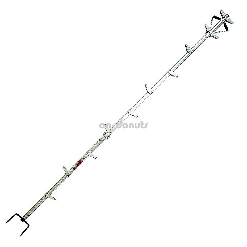 巴化成工業 【3m】ロッキーラダー1 /B-3 (1.5m×2) 木登り用1本はしご【YDKG-tk】