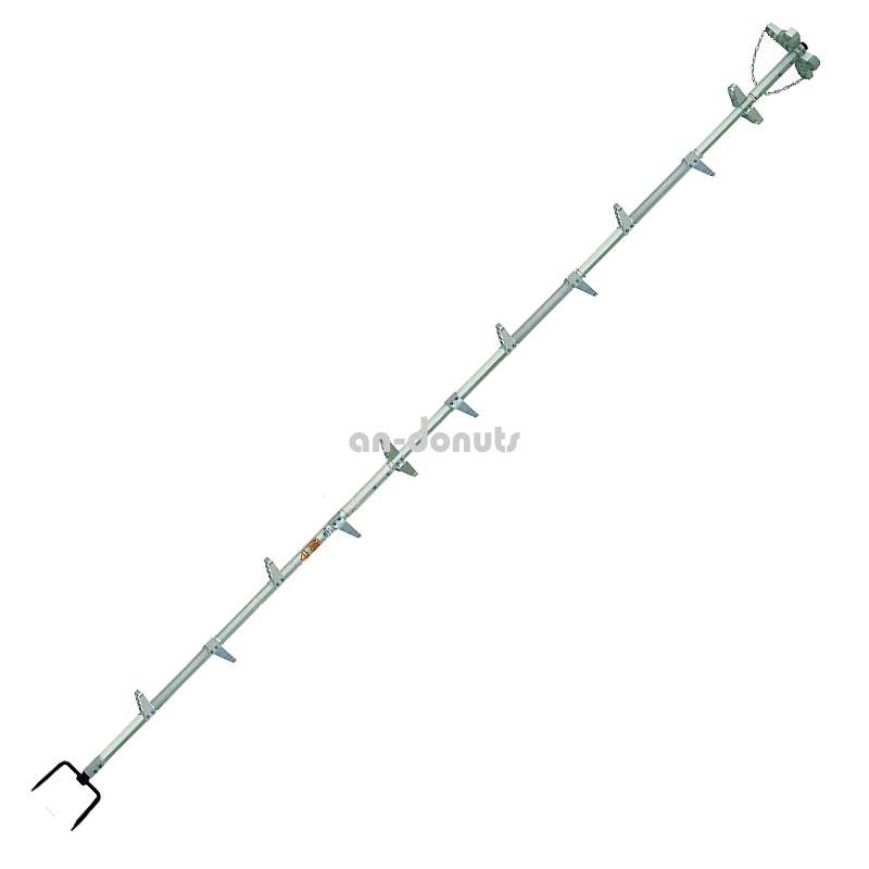 巴化成工業 【4m】ロッキーラダー2 / L-400 (1本ハシゴ) / 木登りハシゴ【YDKG-tk】