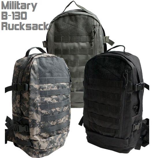 バックパック/リュックサックB-130リュックサックミリタリー/アーミーデイバッグACU/ブラック/フライトグレー