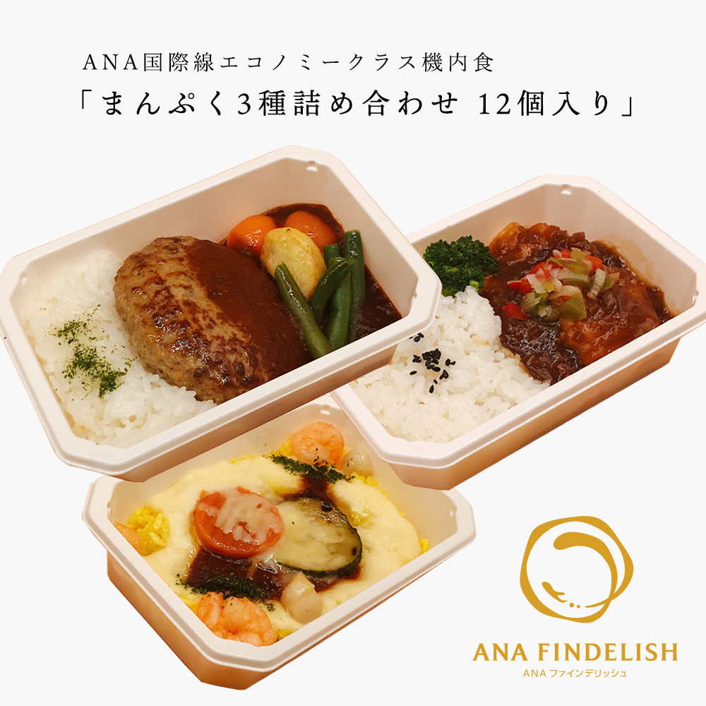 【 ANA's Sky Kitchen 】おうちで旅気分!! ANA国際線エコノミークラス機内食 メインディッシュ まんぷく3種詰め合…