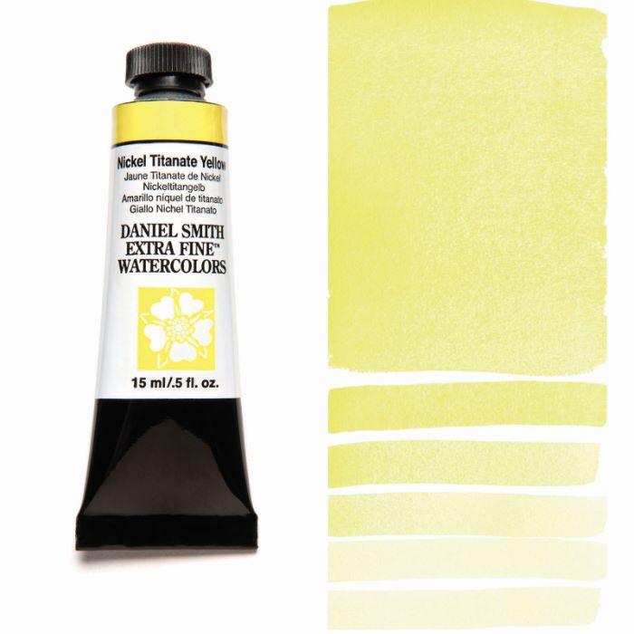 お見舞い お気に入 DANIEL SMITH ニッケルチタネートイエロー Nickel Titanate ダニエル スミス 水彩絵具 15mlチューブ Yellow
