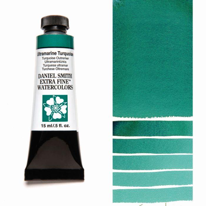 返品送料無料 DANIEL SMITH ウルトラマリンターコイズ Ultramarine Turquoise 限定価格セール スミス 水彩絵具 ダニエル 15mlチューブ
