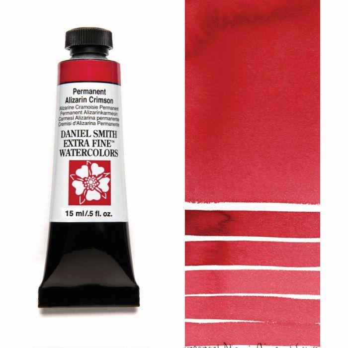 DANIEL 今だけスーパーセール限定 SMITH パーマネントアリザリンクリムソン Permanent Alizarin ダニエル スミス Crimson 水彩絵具 15mlチューブ 贈答品