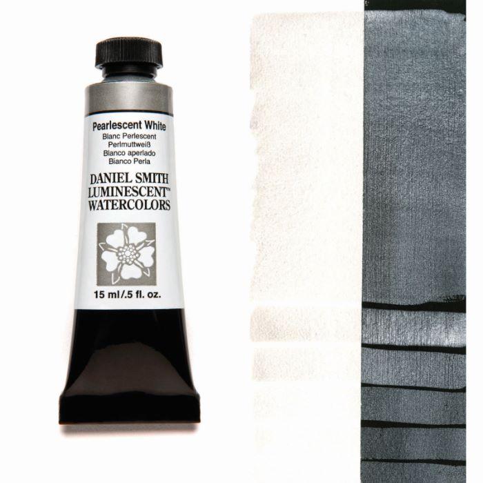 DANIEL SMITH パールセントホワイト Pearlescent White 70%OFFアウトレット 超激安 15mlチューブ 水彩絵具 ダニエル スミス