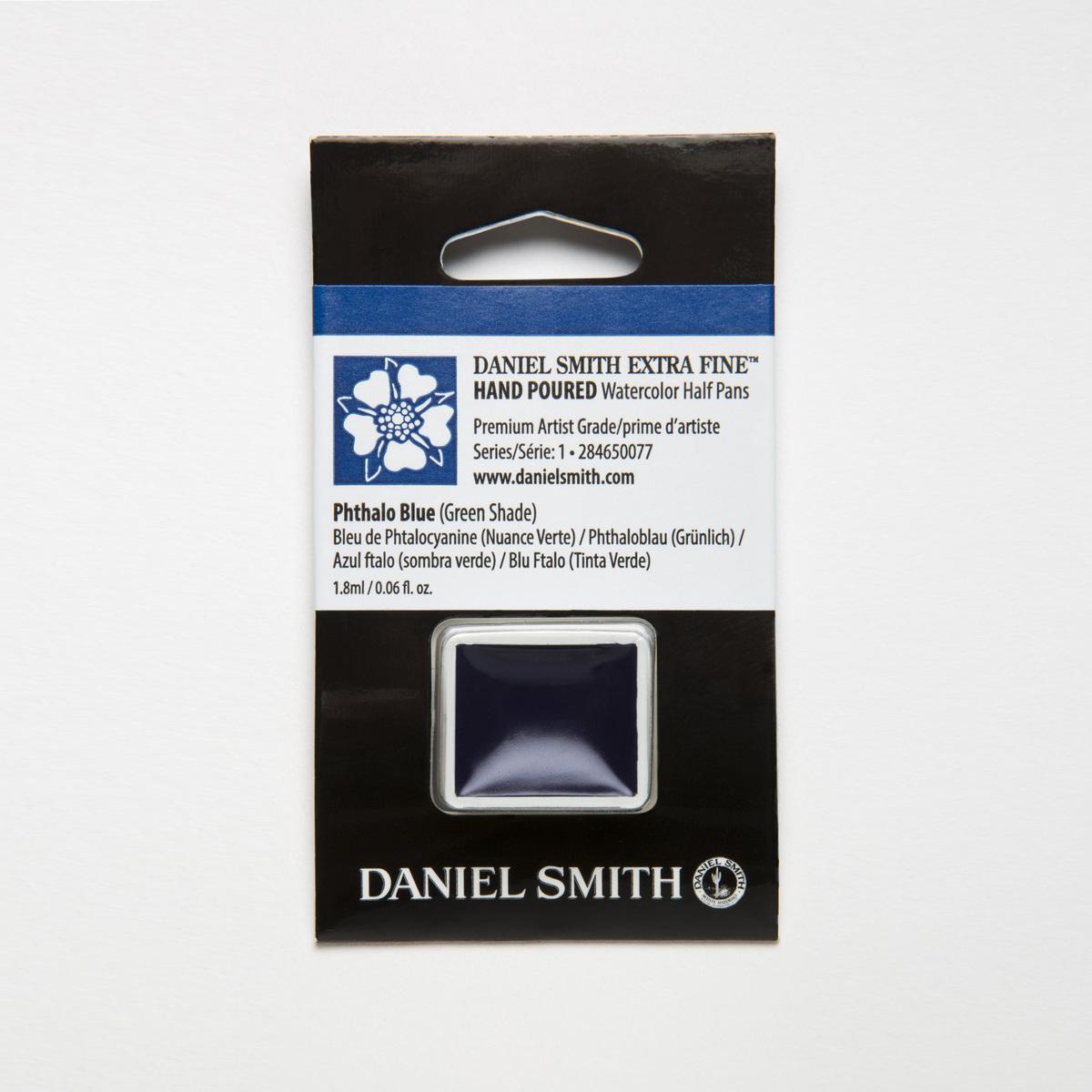 DANIEL SMITH フタロブルーグリーンシェード Phthalo Blue 最安値に挑戦 ハーフパン 激安格安割引情報満載 水彩絵具 スミス GS ダニエル
