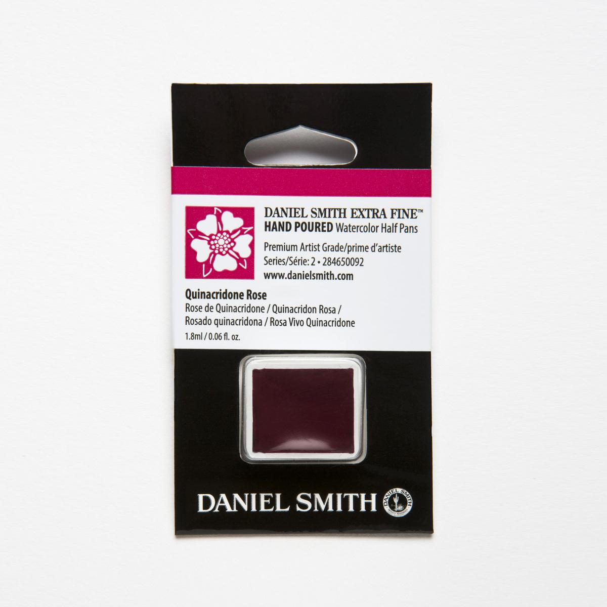 DANIEL お買い得品 SMITH キナクリドンローズ Quinacridone お買い得品 Rose 水彩絵具 ダニエル スミス ハーフパン