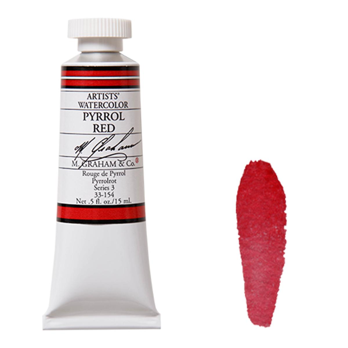 M. Graham ピロールレッド Pyrrol 感謝価格 水彩絵具 15mlチューブ 安い M.グラハム Red