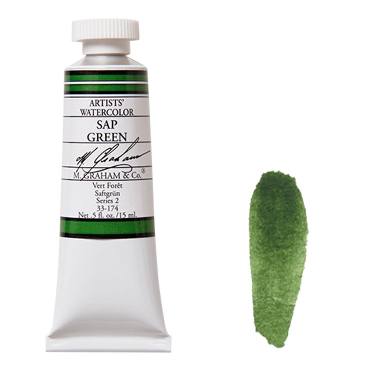 割引 M. 激安通販 Graham サップグリーン Sap M.グラハム 15mlチューブ 水彩絵具 Green