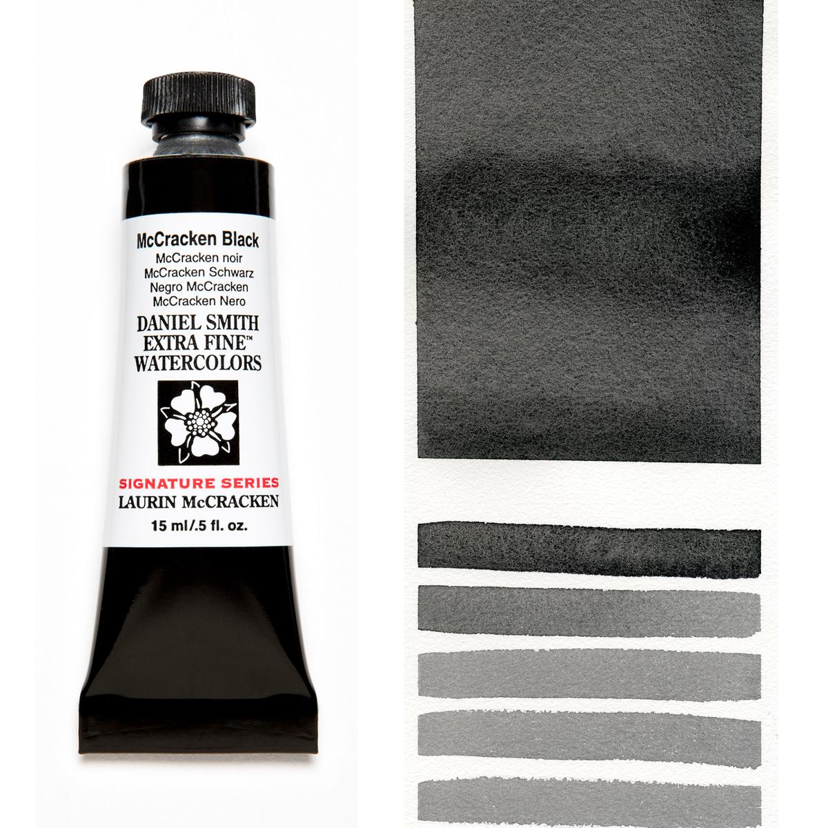 DANIEL 注目ブランド SMITH マクラッケンブラック McCracken まとめ買い特価 Black 15mlチューブ 水彩絵具 ダニエル スミス