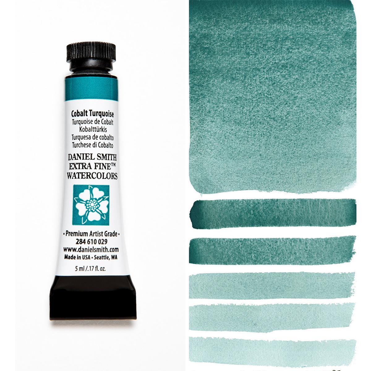 DANIEL SMITH コバルトターコイズ Cobalt キャンペーンもお見逃しなく Turquoise 水彩絵具 スミス 5mlチューブ ダニエル 即納最大半額