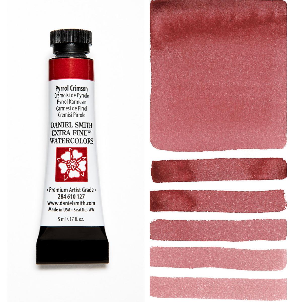 DANIEL SMITH ピロールクリムソン Pyrrol Crimson スミス 今季も再入荷 水彩絵具 ダニエル 販売 5mlチューブ