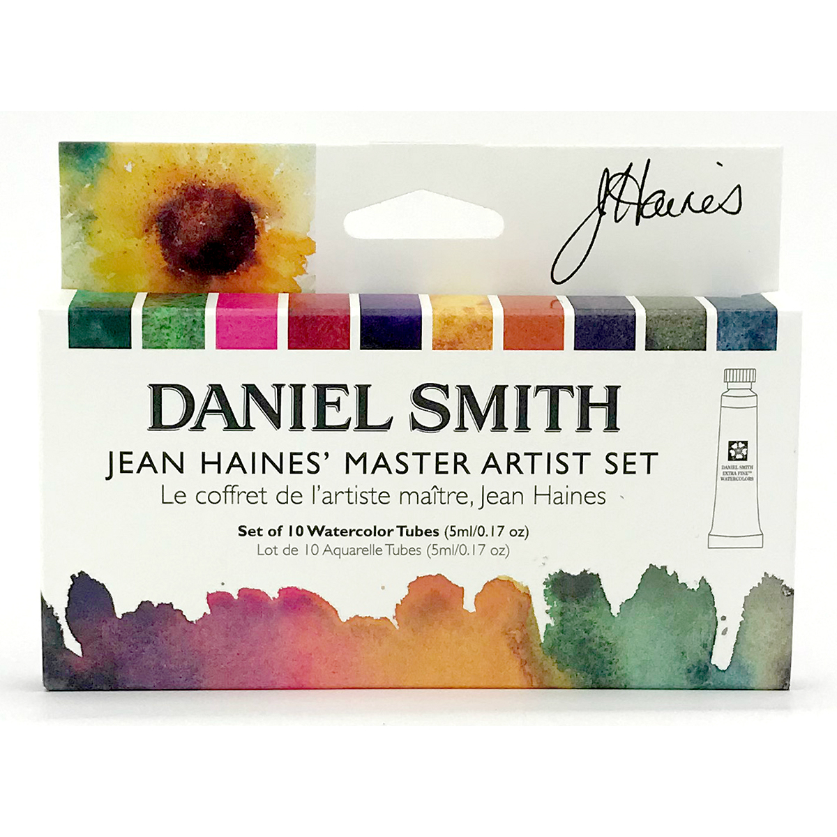 DANIEL SMITH 特価キャンペーン ジーン ヘインズマスターアーティストセット 直送商品 10色 スミス セット 5mlチューブ 水彩絵具 ダニエル