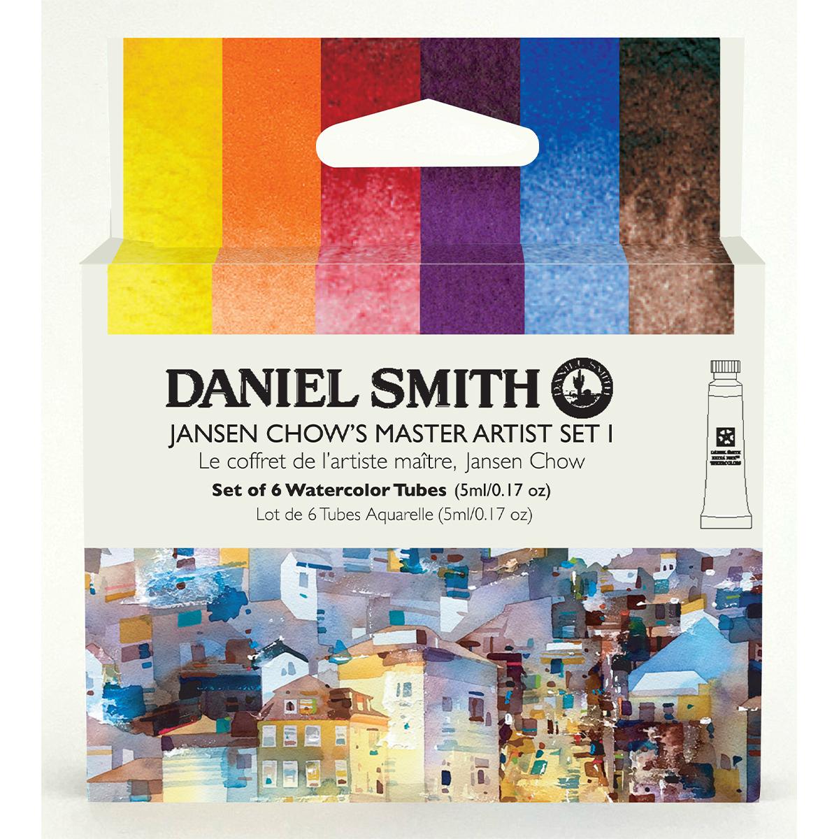 DANIEL SMITH ジャンセン チャウマスターアーティストセットI 6色 セット 贈与 ダニエル 5mlチューブ 水彩絵具 スミス SALE