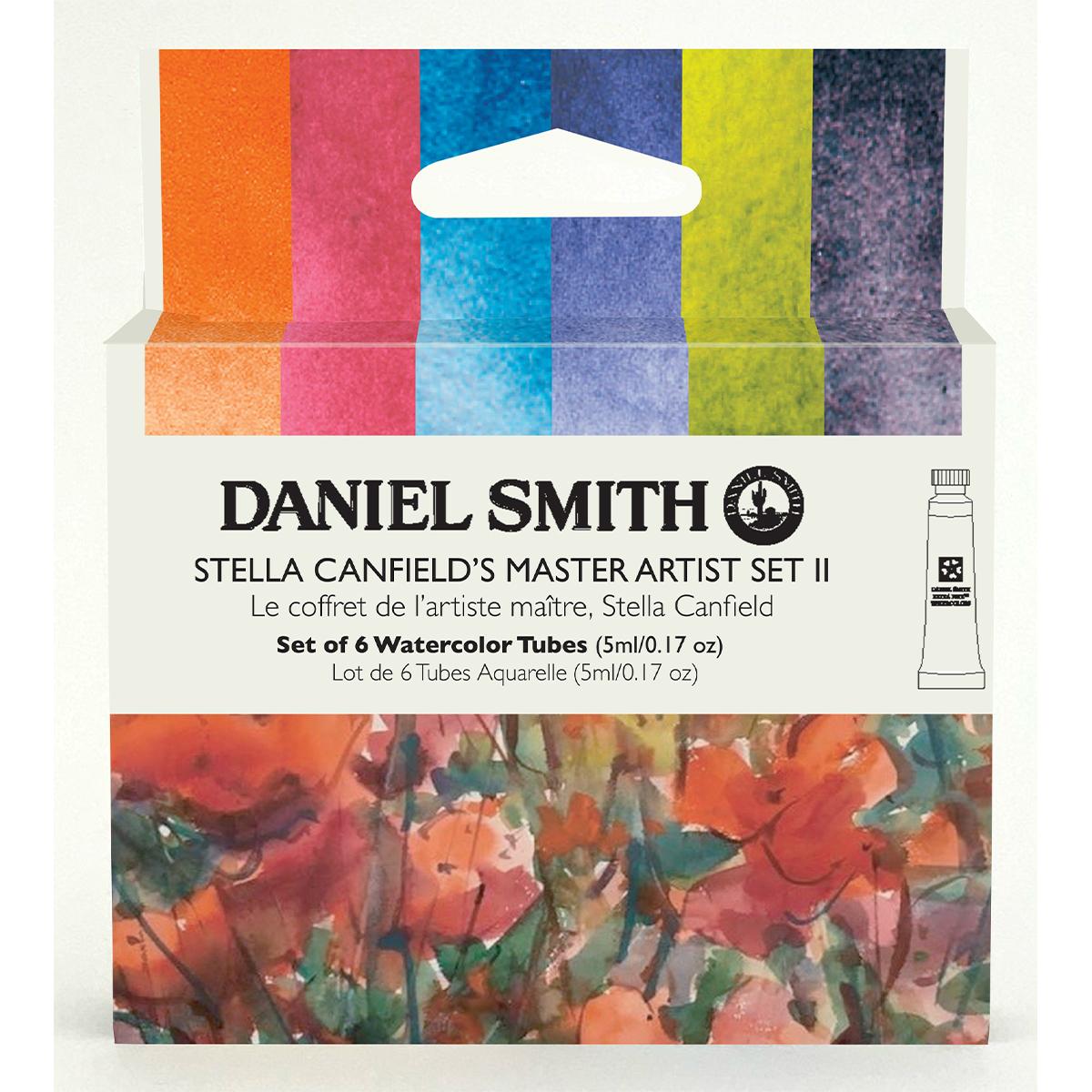 DANIEL 新色追加して再販 SMITH 代引き不可 ステラ キャンフィールドマスターアーティストセットII 6色 スミス 5mlチューブ セット 水彩絵具 ダニエル