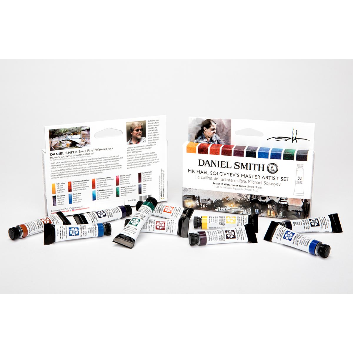 DANIEL SMITH マイケル ソロビヨフマスターアーティストセット 10色 ダニエル スミス 5mlチューブ 在庫一掃売り切りセール 毎日激安特売で 営業中です 水彩絵具 セット