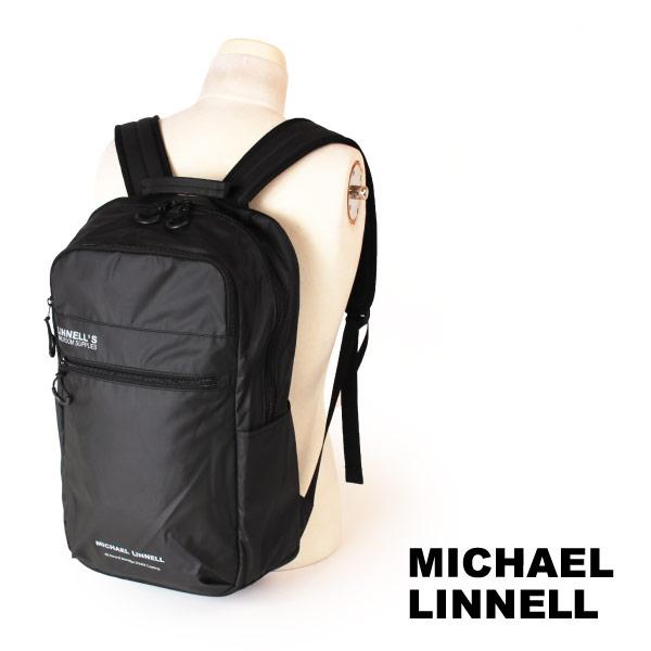 最大2,000円OFFクーポン配布中★マイケルリンネル MICHAEL LINNELL リュックサック バックパック デイパック アーミーコーティング 23L A.R.M.Sシリーズ 多機能 メンズ ブラック MLAC-05