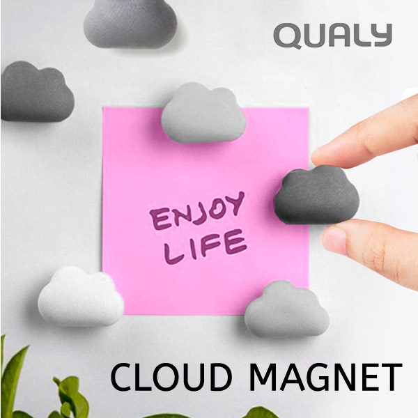 雲形マグネット6個組 磁石 マグネット セット デスクアクセサリー 雲 クラウド 可愛い 出群 おしゃれ デザイン ギフト デスク クラウドマグネット QUALY 6個セット 冷蔵庫 文房具 新作 人気 メール便可 クオリー
