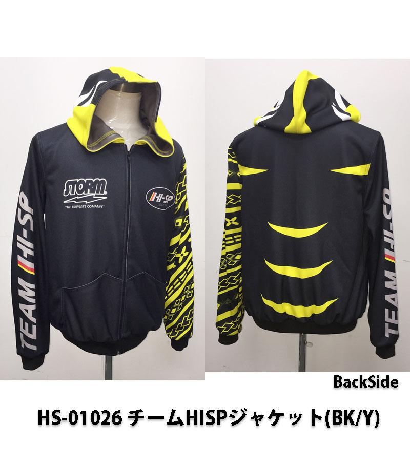 【HI-SPORTS】HS-01026チームHISP ジャケット(BK/Y)