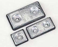 防蝕亜鉛板 B3は 美品 100mm×200mm×厚み20mm 2.5kg ラッピング無料 B3 です 舶用防食亜鉛板