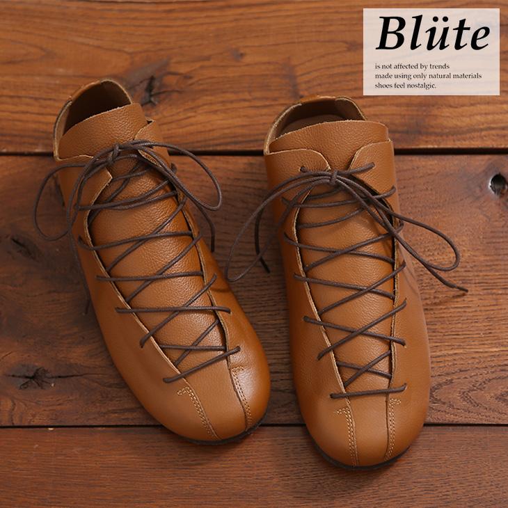 【セール除外商品】Blute(ブリューテ)レザーシューズ(1色)【レディース】【靴】【本革】