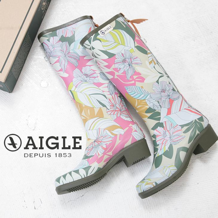 【セール除外商品】 AIGLE(エーグル) MISS JULLIETTE PRINT(1色)【レディース】【長靴】【防水】【レインブーツ】【ZZF8470】