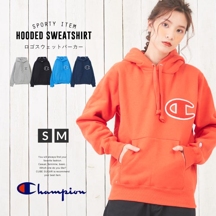 【セール除外商品】 Champion(チャンピオン) HOODED SWEATSHIRT(5色)(S/M): フーディ フード パーカー プルオーバー レディース いろいろサイズ