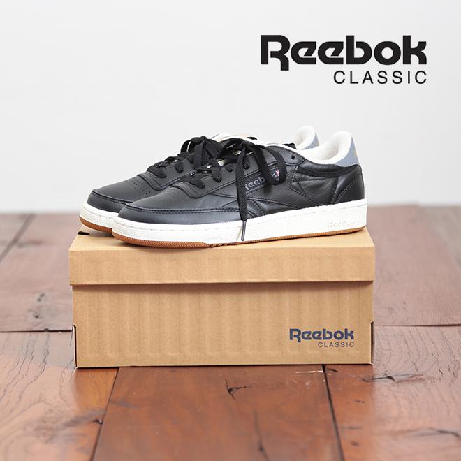 Reebok(リーボック)CLUB C (クラブC)85 RETRO GUM【ブラック】【23.5-25.0cm】【レディース】【スニーカー】【AQ9844】