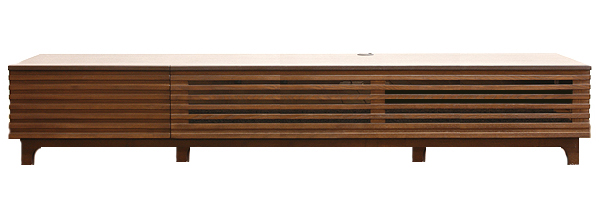[送料無料でお届け中!]タモ&ウォールナットの組み合わせと直線を生かしたボーダーデザインがスタイリッシュなデザインテレビボード登場☆