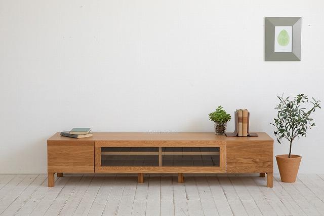 [送料無料][レッチェ/W120]天然木無垢材 高級素材 オーク材 ウレタン塗装 国産 安心安全 テレビボード