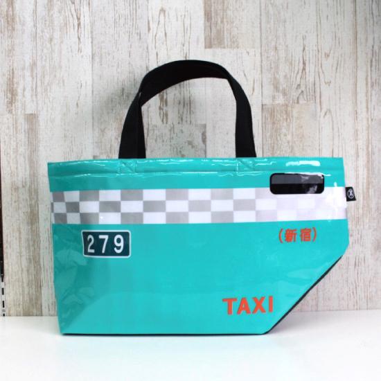 グリーンキャブの乗降ドアをそのままトートバッグにしました バッグ トート タクシー 可愛い レトロ TAXIES トートバッグ プレゼント ギフト セール特価 グリーンキャブ 特価キャンペーン