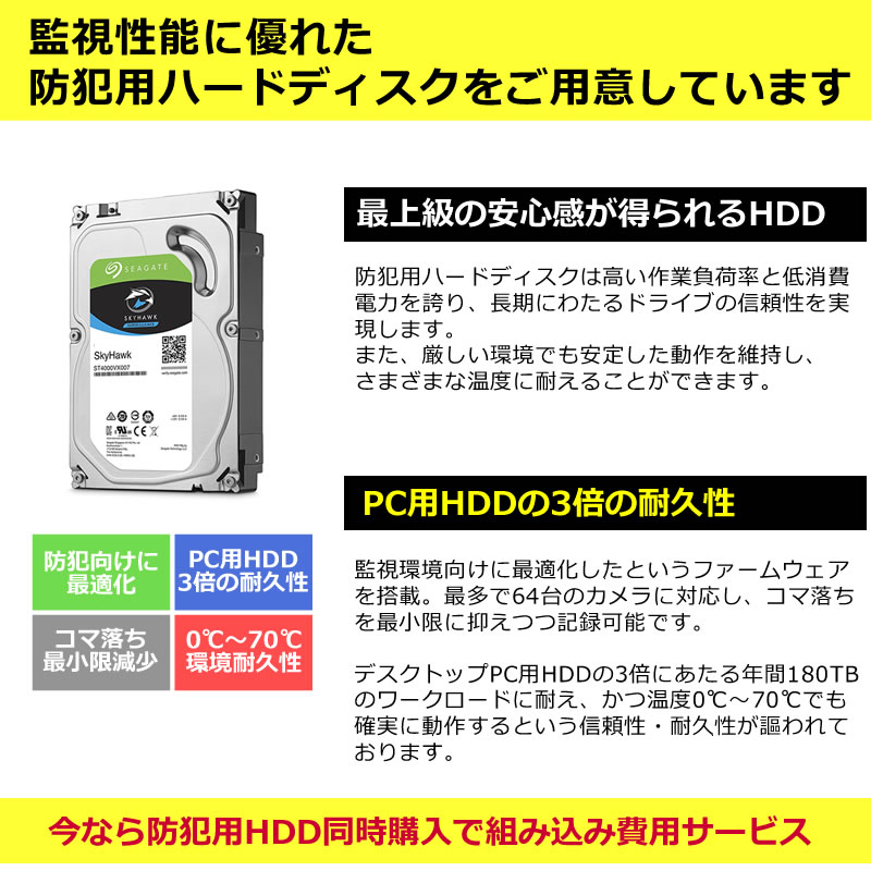 防犯録画機用 ハードディスク(2TB)
