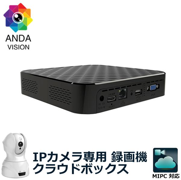 IPCAMシリーズ用 クラウドレコーダー 防犯用録画機 NAS 1TB内蔵 av-ipcam-cbox MIPC
