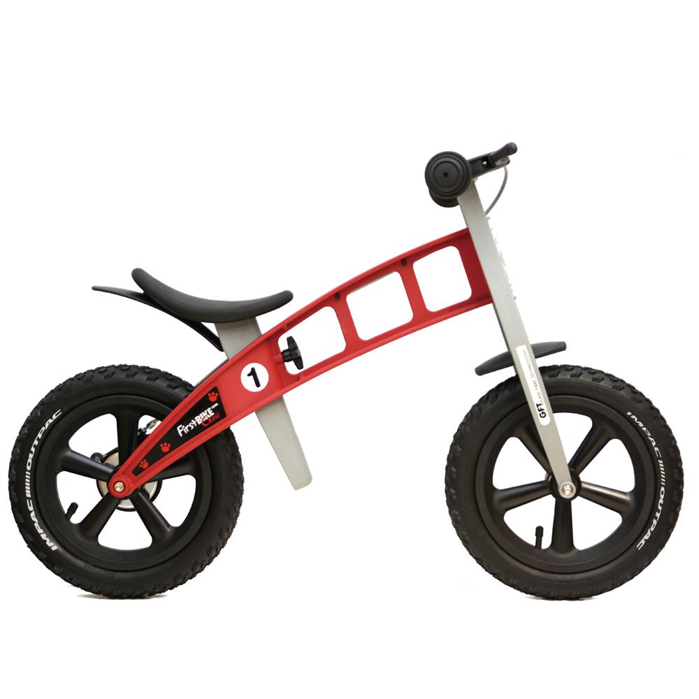 キックバイク バランスバイク ペダルなし自転車 FirstBIKE RED ブレーキ付きバランスバイク CROSS ファーストバイク 新品 通信販売
