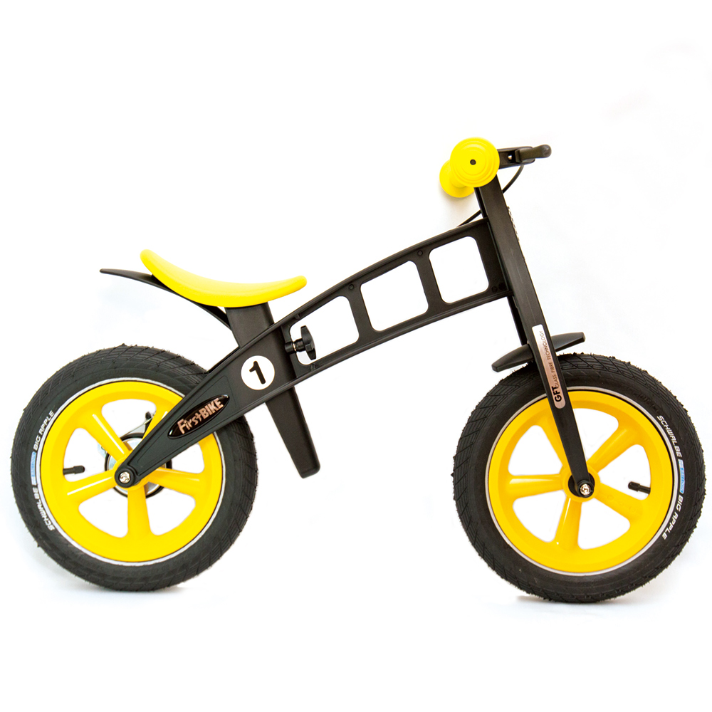 FirstBIKE/ファーストバイク LIMITED「YELLOW」【ブレーキ付きバランスバイク】
