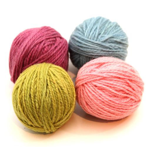 wool manufakture ウールマニュファクチャー 草木染毛糸 パステル 細 爆買い送料無料 ドイツ製の毛糸 25gx4色セット ブランド激安セール会場