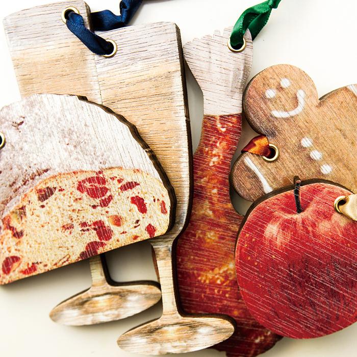 KLOKA wood ornament「Chiristmas Food&Drink Set」【木製クリスマスオーナメント5種セット フードセット】