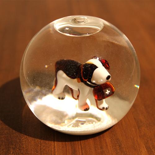 スノードーム(スノーグローブ)「セントバーナード」GLAS&LICHT社【送料無料】【クリスマス | 救助犬】