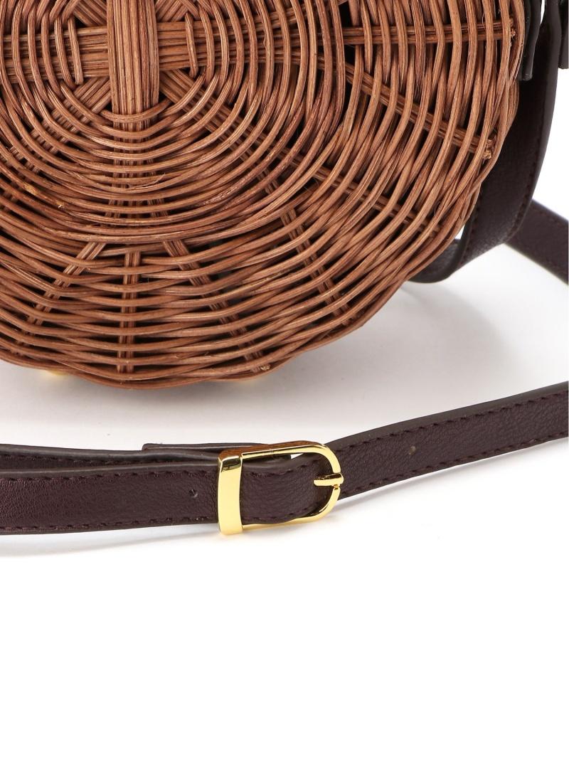 FashionSALE 32 OFF ラタンサークルバッグ Andemiu アンデミュウ バッグ ショルダーバッグ ブラウン ベージュ RBA E送料無料nw80PkXON