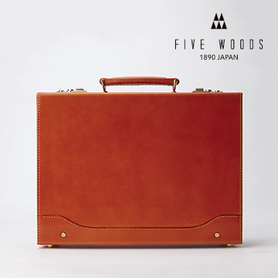 【FIVE WOODS】ビジネスバッグ メンズ アウトレット 訳あり プライスダウン ファイブウッズ アタッシェケース ブラウン 39129 本革 スウェード 高級感