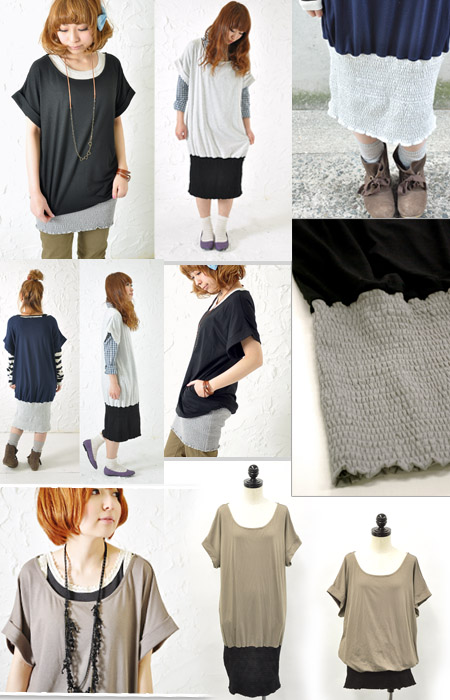 "-BARGAIN-Kawai of the secret. Enjoy the two faces! ""buzz"" loose tops ☆ color widewideshirlengdormantunic-non-"