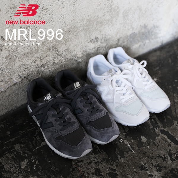 【送料無料】スニーカー【newbalance/ニューバランス】MRL996【メール便不可】(レディース シューズ スニーカー 靴 ニューバランス NB MRL996 AN AG PG PH 23.0 23.5 24.0 グレー ネイビー レディースファッション カジュアル かわいい おしゃれ)