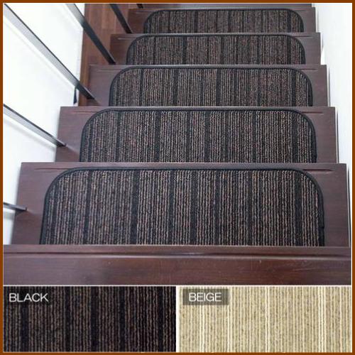 【500円OFFクーポン配布中】 階段マット シャトー 幅65×奥21cm 13枚入り 階段 滑り止めマット 階段カーペット おしゃれ 高級 室内 オールシーズン対応 O02 【】