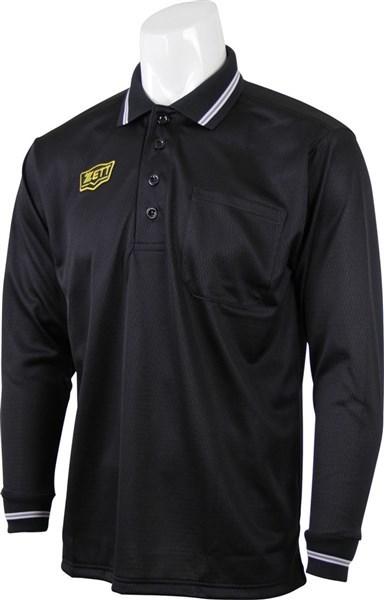 ZETT(ゼット) BPU51BL 1900 野球 ボーイズリーグ公認 長袖メッシュアンパイヤポロシャツ 16SS