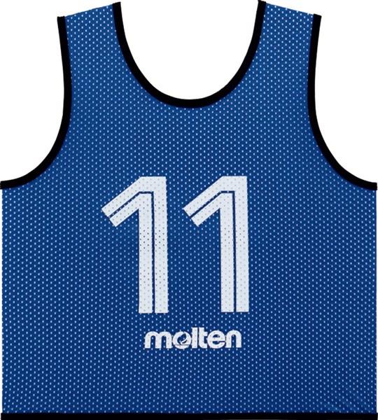 モルテン(Molten) GS0112B ゲームベスト GVジュニア10枚セット(NO2~11) ブルー 18SS