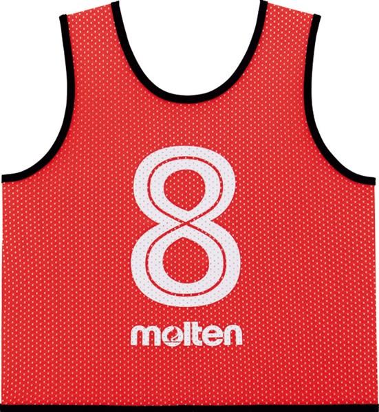 モルテン(Molten) GS0112R ゲームベスト GVジュニア10枚セット(NO2~11) レッド 18SS