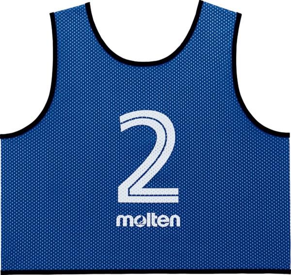 モルテン(Molten) GS0113B ゲームベスト GV10枚セット(NO2~11) ブルー 18SS