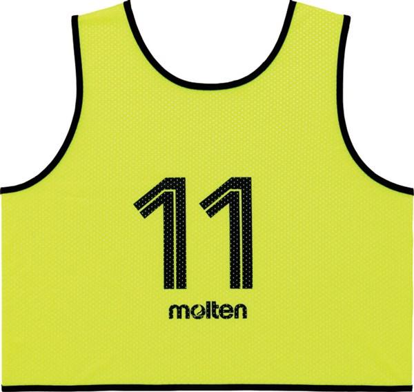 モルテン(Molten) GS0113KL ゲームベスト GV10枚セット(NO2~11) 蛍光イエロー 18SS
