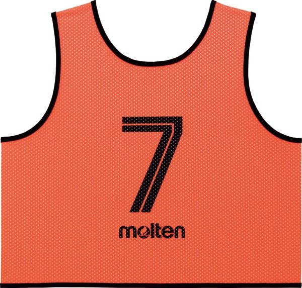 モルテン(Molten) GS0113KO ゲームベスト GV10枚セット(NO2~11) 蛍光オレンジ 18SS
