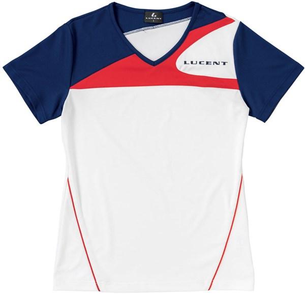 LUCENT(ルーセント) XLH2250 テニス レディース ゲームシャツ(襟なし) ホワイト 18SS
