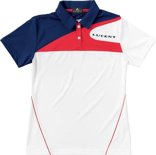 LUCENT(ルーセント) XLP4880 テニス レディース ゲームシャツ ホワイト 18SS